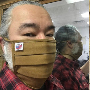CFDCo Face Mask 100% Cotton 12oz Duck Canvas-Navy