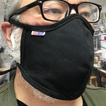 "CFDCo ""Baine"" Face Mask w/ pocket filter 100% Cotton 12oz Duck Canvas-Black"