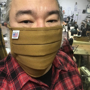 CFDCo Face Mask 100% Cotton 12oz Duck Canvas-Ochre