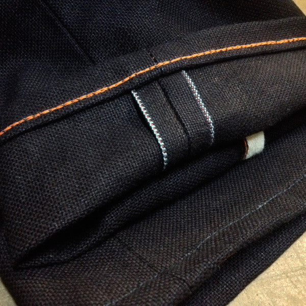 15oz Duck Canvas Indigo Selvage Red
