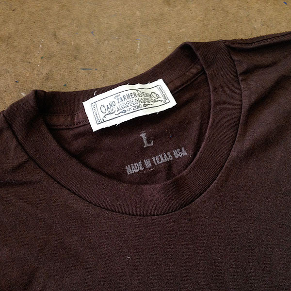 4.4oz TEXAS MADE Crew Neck Brown