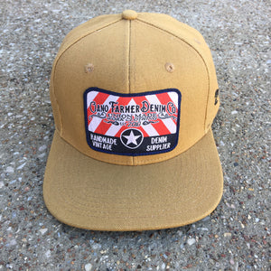 15oz USA Duck Canvas Snapback HAT Embroidery Patch