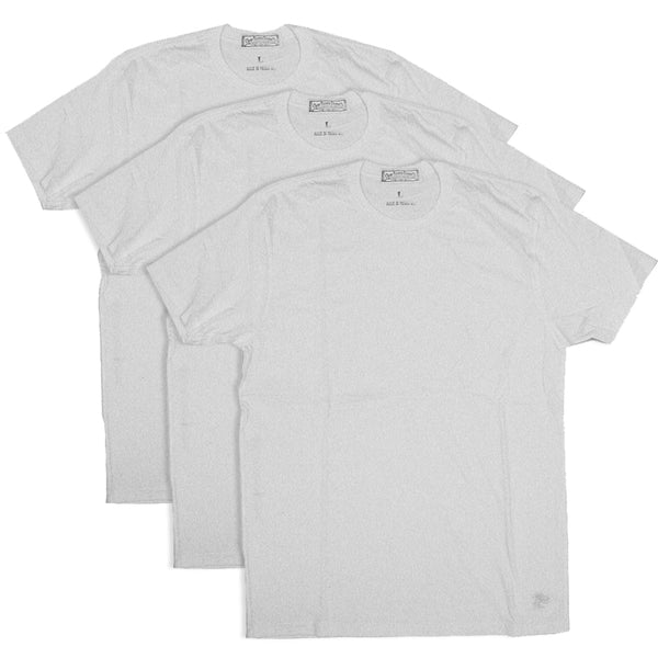 4.4oz TEXAS MADE Tee Crew Neck WHT 3 PACK