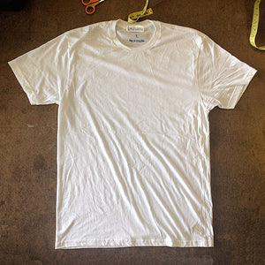 "4.4oz TEXAS MADE Crew Neck WHITE ""Denton TEXAS"""