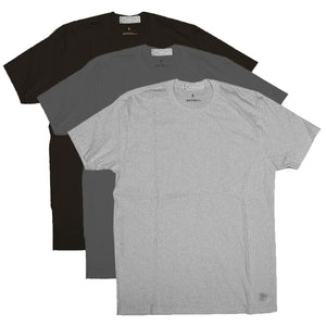 4.4oz TEXAS MADE Tee Crew Neck BLK/USAF/GREY HTR 3 PACK