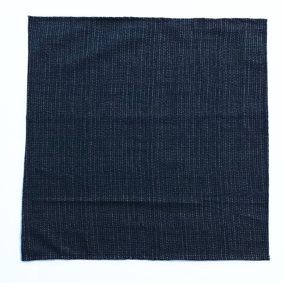 "Japanese Nara Cotton Canvas Indigo Handkerchief 27.5 x 27.5 ""DASH"""