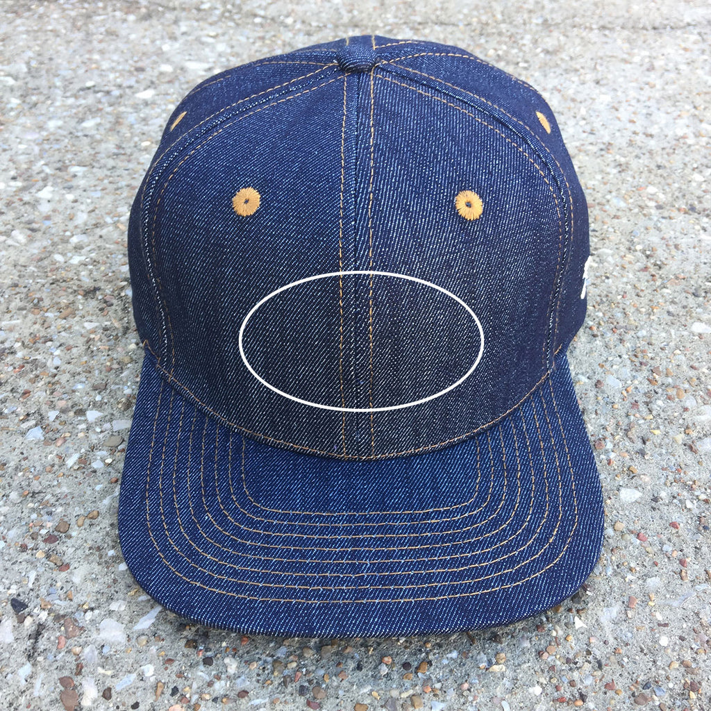 CUSTOM VINTAGE PATCH 14oz TEXAS Denim Snapback HAT Blank