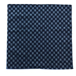 "Japanese Nara Cotton Canvas Indigo Handkerchief 27.5 x 27.5 ""GEO"""