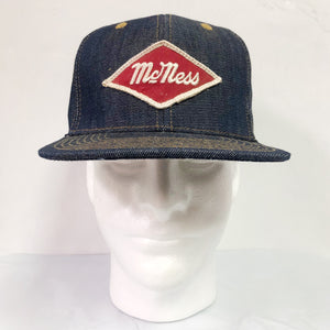 "14oz TEXAS Denim Snapback HAT 60's ""McNess"" Patch"