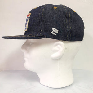 "14oz TEXAS Denim Snapback HAT 60's ""MFA Oil"" Patch"