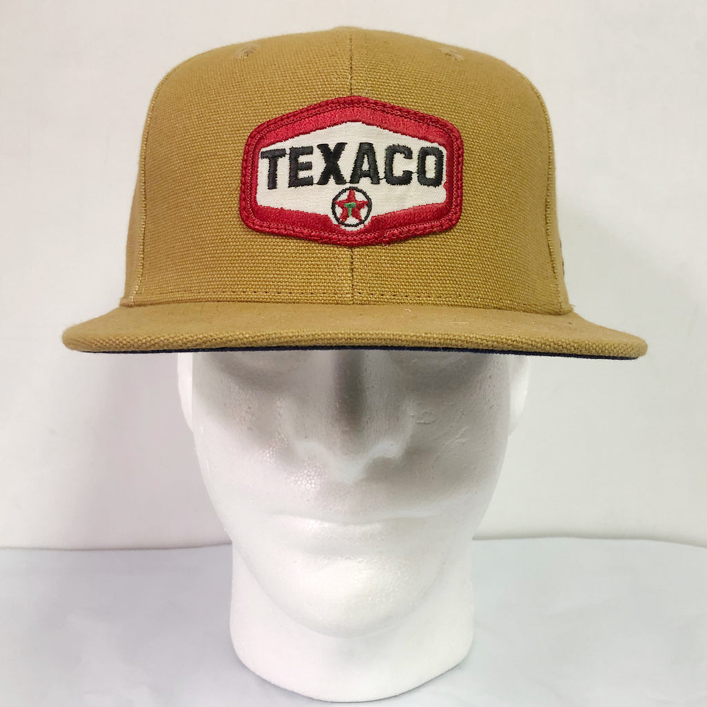 "15oz USA Duck Canvas Snapback HAT 70's ""Texaco"" Patch"
