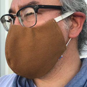 "CFDCo ""ELASTIC Baine"" Face Mask Type2 100% Cotton 12oz Duck Canvas-Ochre"