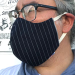 "CFDCo ""ELASTIC Baine"" Face Mask Type2 100% Cotton 13.5oz Japanese Indigo/Indigo WABASH White Selvage"