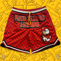 Red Turns Heads Shorts
