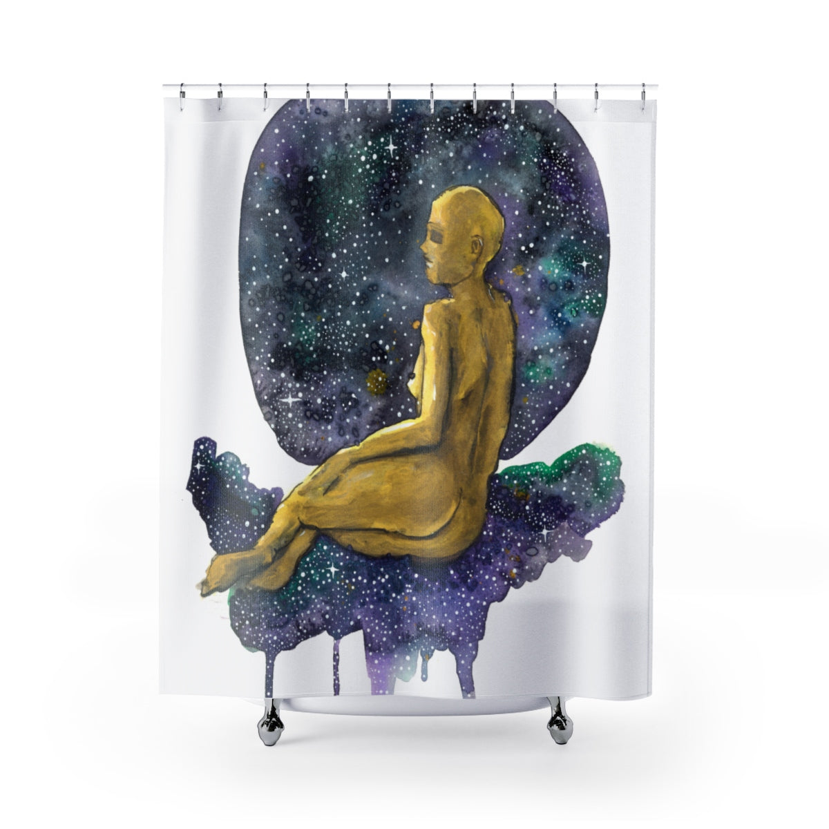 Golden Girl Shower Curtain, Home Decor - Gravitational Pull Art