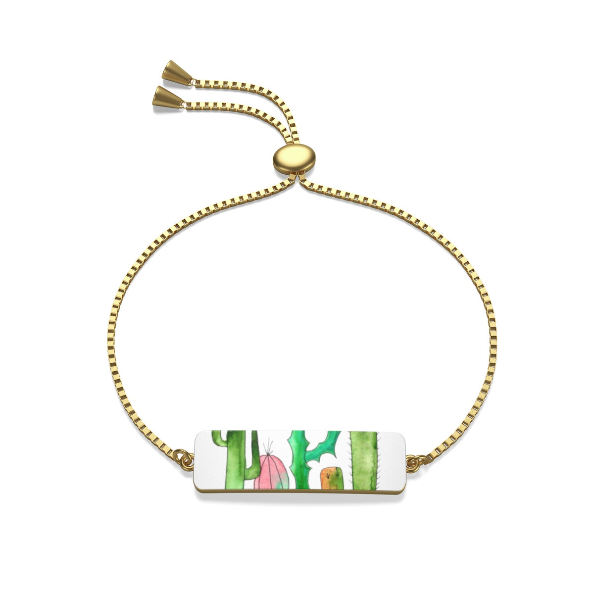 Cactus Family H Box Chain Bracelet, Accessories - Gravitational Pull Art