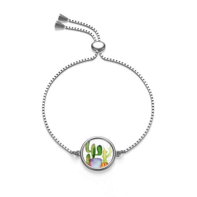 Cactus Family C Box Chain Bracelet, Accessories - Gravitational Pull Art