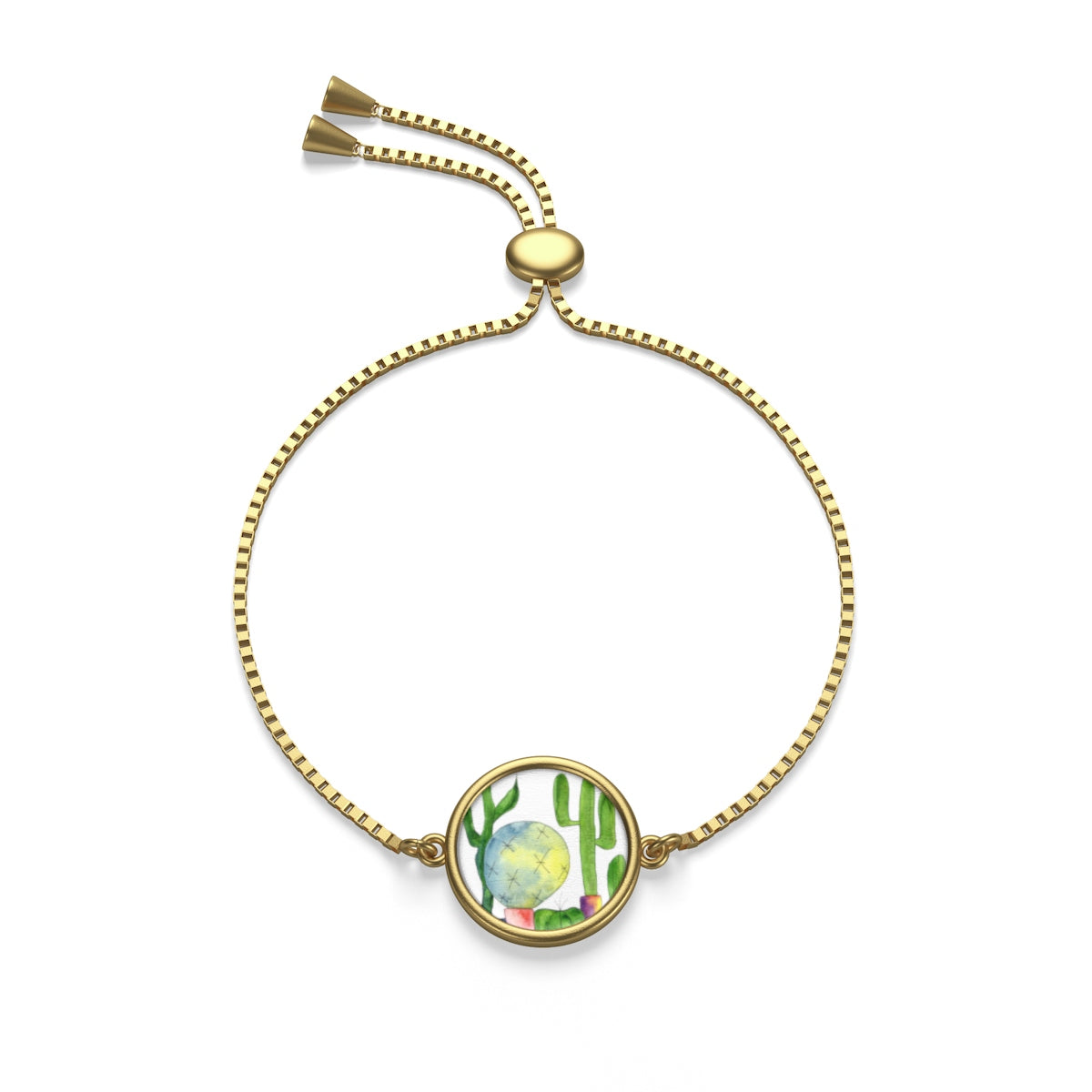 Cactus Family E Box Chain Bracelet, Accessories - Gravitational Pull Art