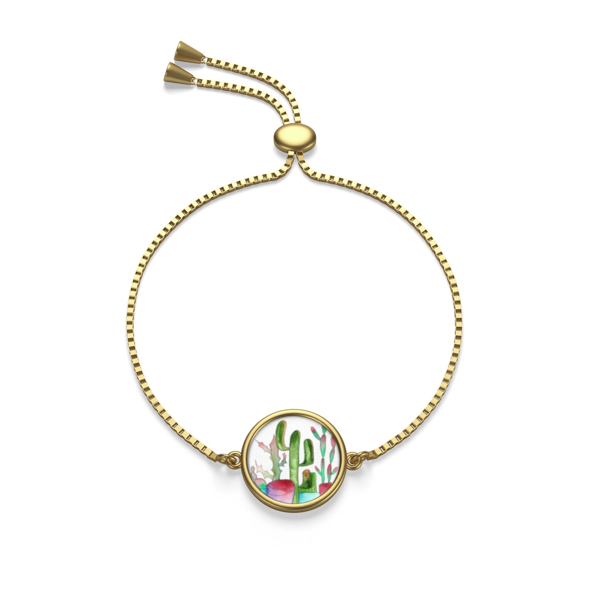 Cactus Family F Box Chain Bracelet, Accessories - Gravitational Pull Art