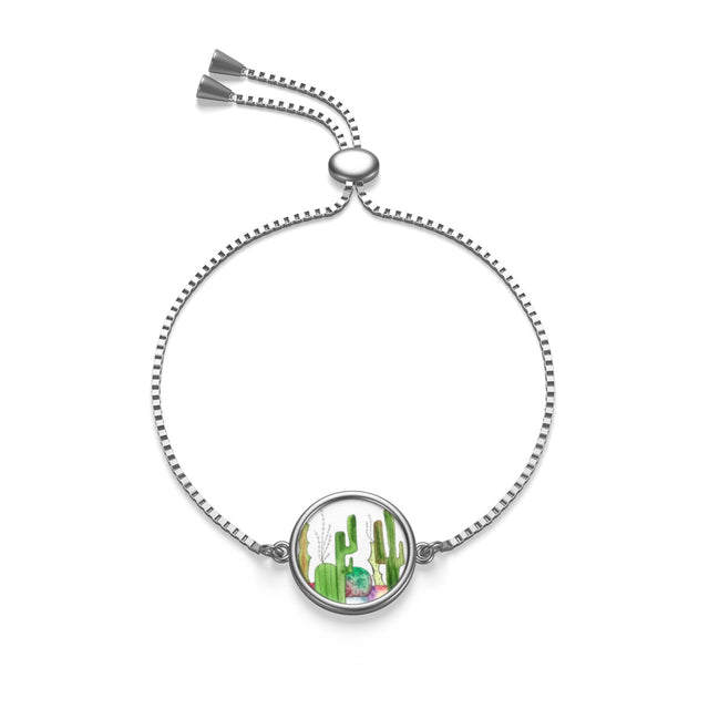 Cactus Family D Box Chain Bracelet, Accessories - Gravitational Pull Art
