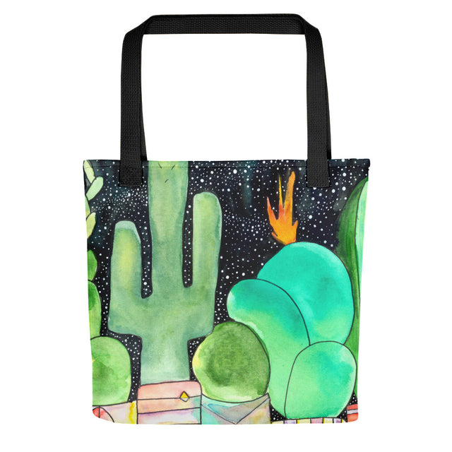 Moon Beam Cactus Watercolour Tote Bag,  - Gravitational Pull Art