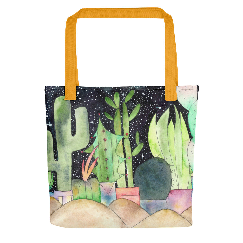Tuxedo Cactus Watercolour Tote Bag,  - Gravitational Pull Art