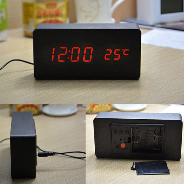 Home & Garden - Wooden Alarm Clock