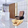 NS218 - Sandy Brown Tub & Saddle Brown Sink with Massage Chair 299-V2 - New Star Spa & Furniture