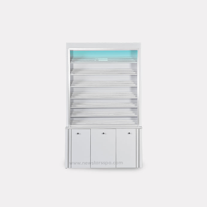 V-Powder Rack w/Powder Cabinet (w/LED Light) - New Star Spa & Furniture