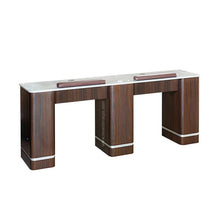 "Load image into Gallery viewer, YC Double Nail Table 72 7/8"" With Vent - New Star Spa & Furniture"