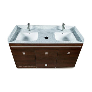 """U"" Double Sink With Faucets - New Star Spa & Furniture"