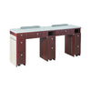 "I Double Nail Table 68 7/8"" With Pipe (90) - New Star Spa & Furniture"