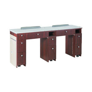 "I Double Nail Table w/Pipe - 68 7/8"" (90) - New Star Spa & Furniture"