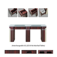"Load image into Gallery viewer, I Double Nail Table w/Pipe - 68 7/8"" (90) - New Star Spa & Furniture"