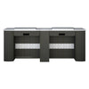 "IQ Double Nail Table 74 1/2"" - New Star Spa & Furniture"