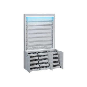V2 Polish & Powder Rack w/Gel Color & Powder Cabinet - New Star Spa & Furniture