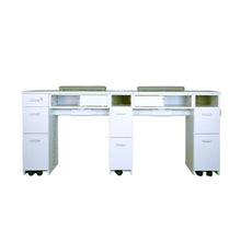 "Load image into Gallery viewer, SW Double Nail Table w/Pipe 72"" - New Star Spa & Furniture"