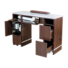 "Load image into Gallery viewer, YC Nail Table 41"" With Vent - New Star Spa & Furniture"