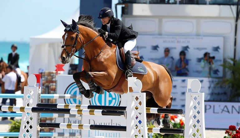 Margie Engle's High-Flying Jumpers are Powered by Haygain Steamed Hay