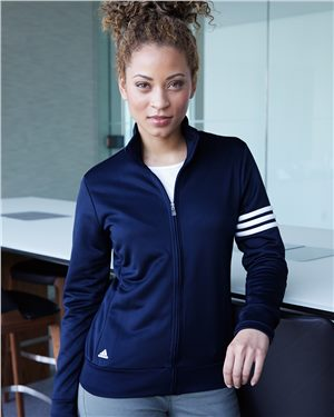 TK565 Adidas - Women's ClimaLite 3-Stripes French Terry Full-Zip Jacket