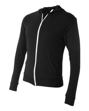Lightweight Full-Zip Hooded Long Sleeve Tee