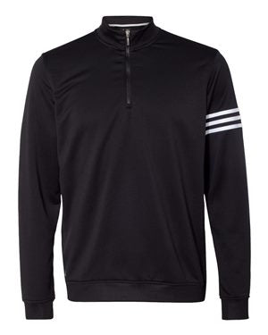 TK564 Adidas - ClimaLite 3-Stripes French Terry Quarter-Zip Pullover