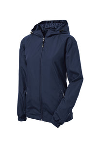 Sport-Tek® Ladies Colorblock Hooded Raglan Jacket-Panther Embroidery