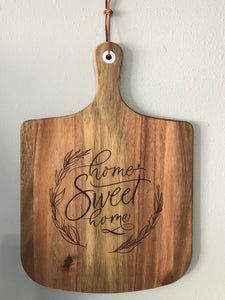 "Acacia Wood ""Home Sweet Home"" Cutting Board"