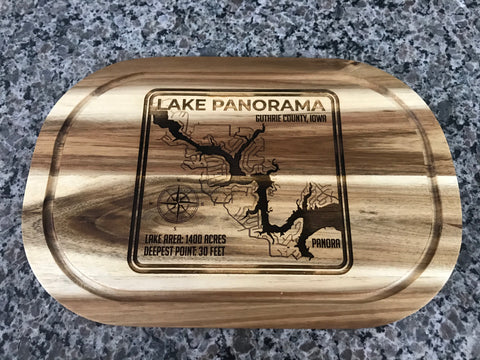 Lake Panorama Engraved Cutting Board