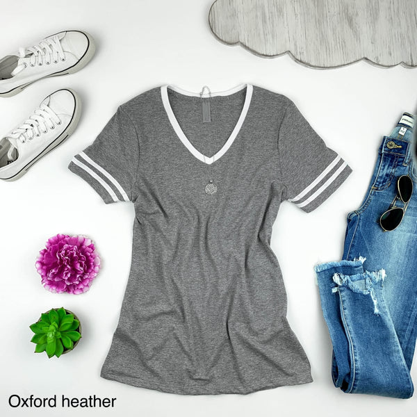 Soft Triblend V Neck Tee-Ladies Fit