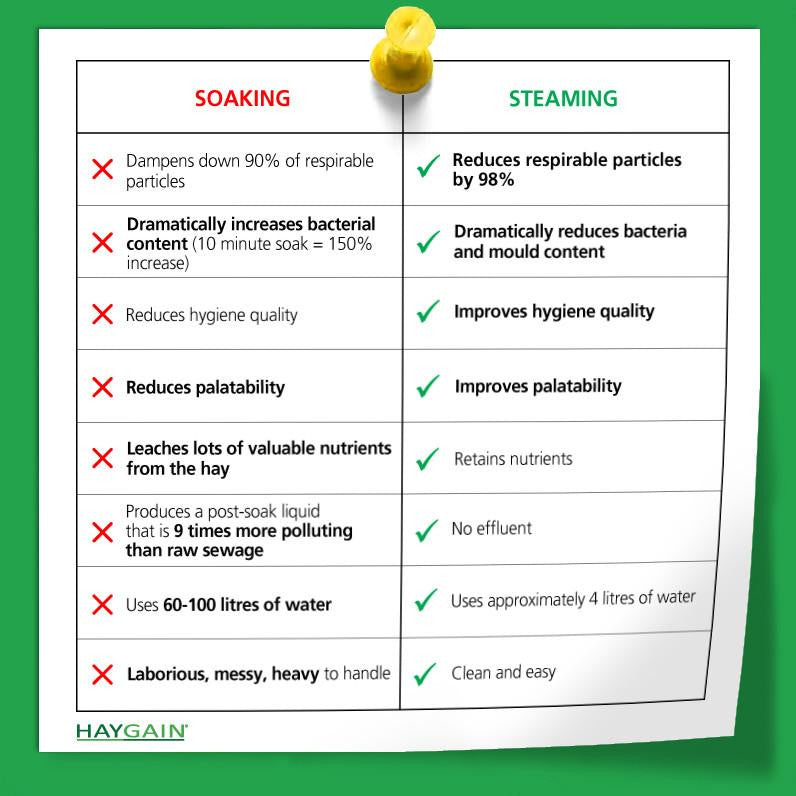 Soaking versus steaming-  the comparison