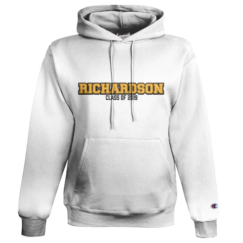 Richardson Champion Hoodie White Embroidered Twill