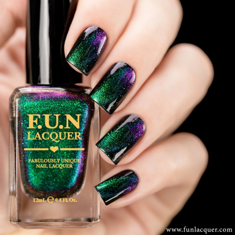 Gorgeous multichrome magnetic nail polish by FUNLacquer