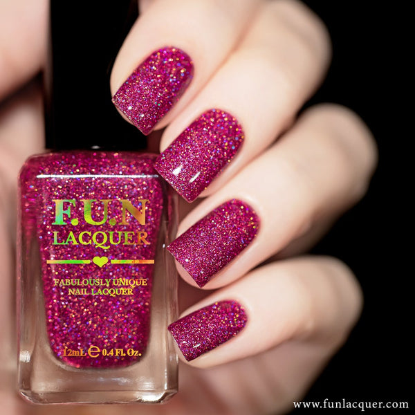 Love is 100% Fat Free Pink Holo Nail Polish